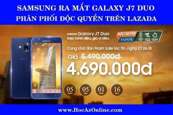 Đẹp sành điệu, giá vi diệu với Samsung Galaxy J7 Duo