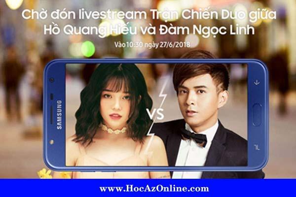 Livestream giao lưu với khách hàng của Hồ Quang Hiếu và Đàm Ngọc Linh
