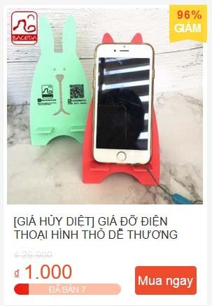 Giá đỡ điện thoại hình thỏ dễ thương