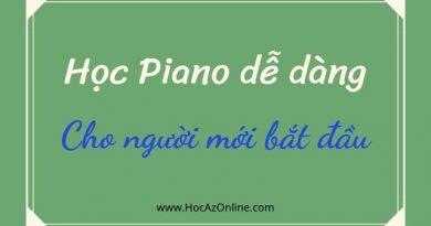 Học piano dễ dàng cho người mới bắt đầu